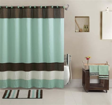 shower curtains set regatta shower curtain towel and bath accessory 17 piece