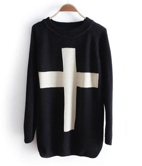 K01 Sweater Cross 2colour a 071005 cross sweater sweater 183 megafashion 183 store powered by storenvy