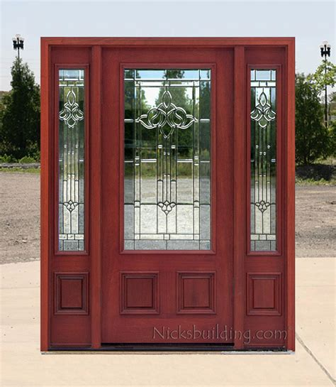 Affordable Front Doors Affordable Mahogany Front Doors With Cherry Finish
