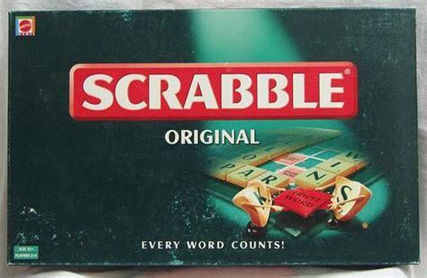 id scrabble word scrabble original board the box is