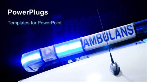 powerpoint template a figure of the ambulance with