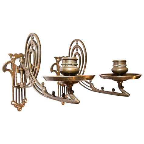 Bronze Piano L by Two Jugendstil Bronze Piano Candleholder At 1stdibs
