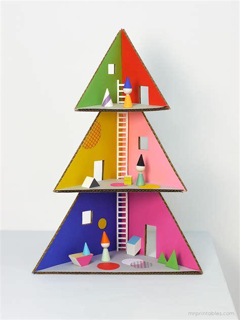 building a xmas tree box turn a cardboard box into a diy dollhouse cool picks
