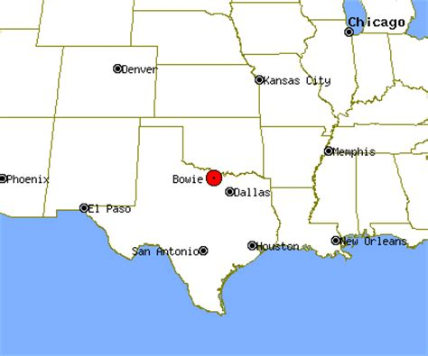 bowie texas map bowie profile bowie tx population crime map