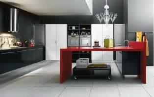Black And Red Kitchen Ideas by Black And Red Kitchen Home Decorating Ideas