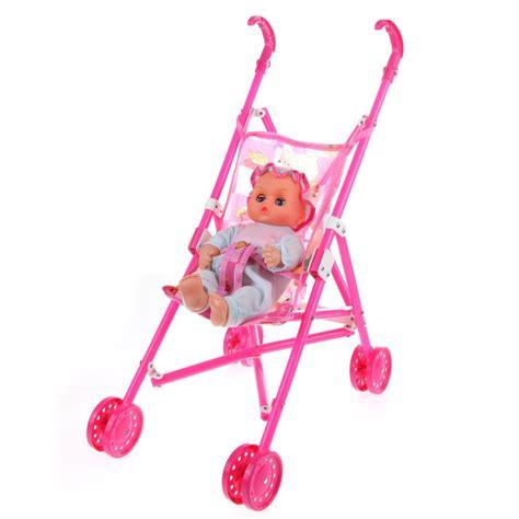 Mainan Stroller Anak dolls buggy stroller pushchair pram foldable doll pram