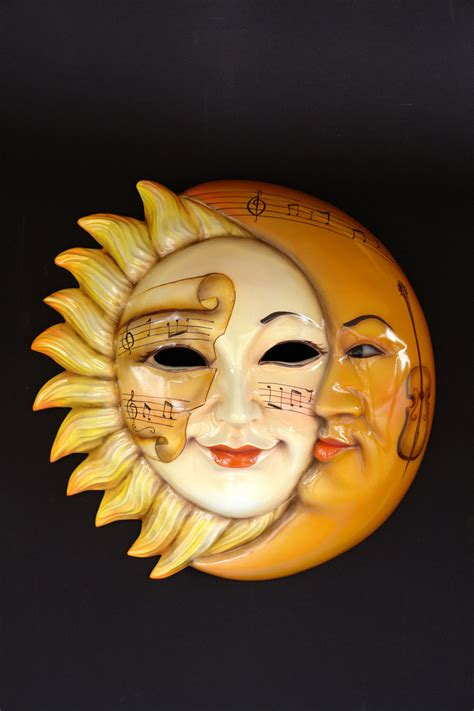 Moon Mask sun and moon mask signs plaques masks themed figures