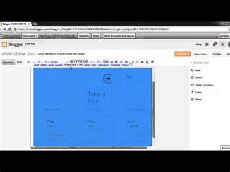 membuat blog di youtube cara membuat artikel di blog youtube