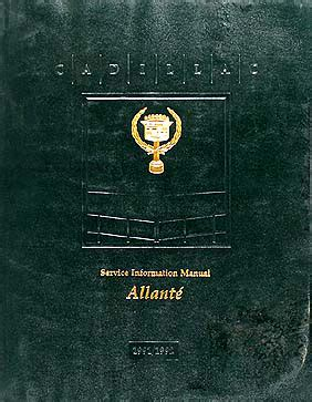 repair manual 1992 cadillac allante 1991 1992 cadillac allante shop service repair manual cd 1991 1992 cadillac allante repair shop manual original