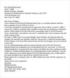 Grievance Letter Template To Employer by Grievance Letter 11 Documents In Pdf Word