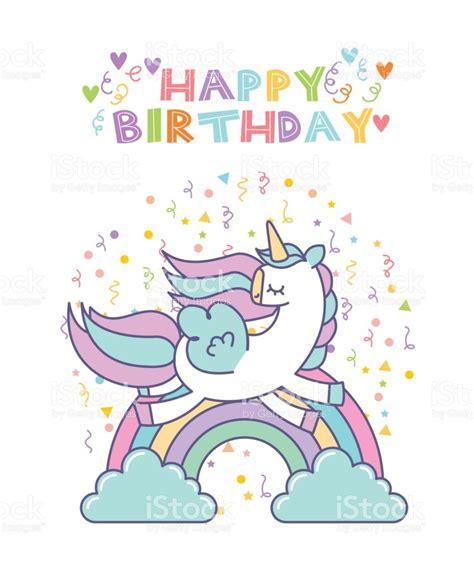 free printable birthday card unicorn unicorn birthday card stock vector art more images of