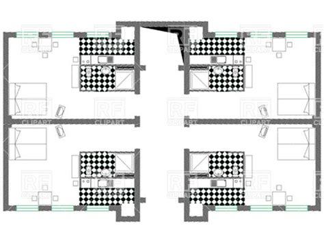 Apartment Or Hotel Floor Plan Top View Vector Clipart Floor Plans Vector