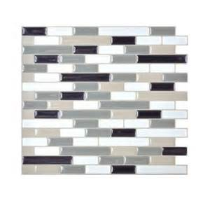 Peel And Stick Backsplash Home Depot Smart Tiles Muretto Blues 10 20 In X 9 10 In Peel And
