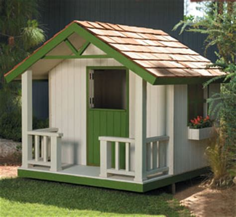 Cottage Playhouse Plans by All Yard Garden Projects Cottage Playhouse Plans