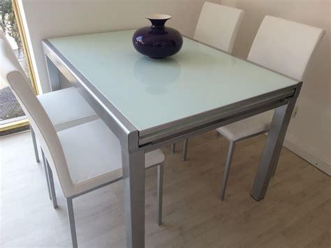 sedie per tavolo cristallo tavolo 4 sedie zanotto cristallo temperato rettangolari