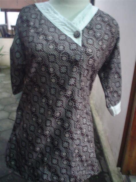 Blus Batik 1 aneka blus kantor batik laweyan