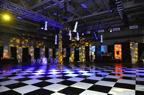 Dance Decorations Black Amp White Dance Floor With Hanging Chess Pieces Rick