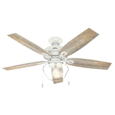 hunter duncan 52 ceiling fan hunter duncan 52 in led indoor fresh white flush mount