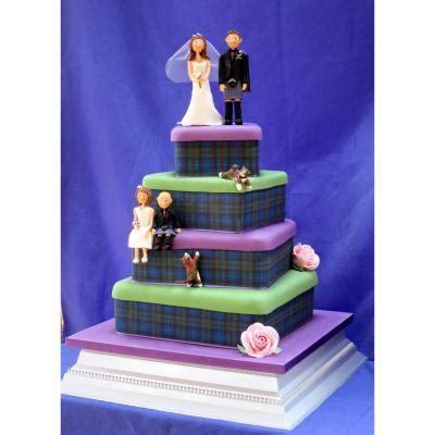 Isle of Skye Tartan Edible Scottish Tartan Wedding Cakes