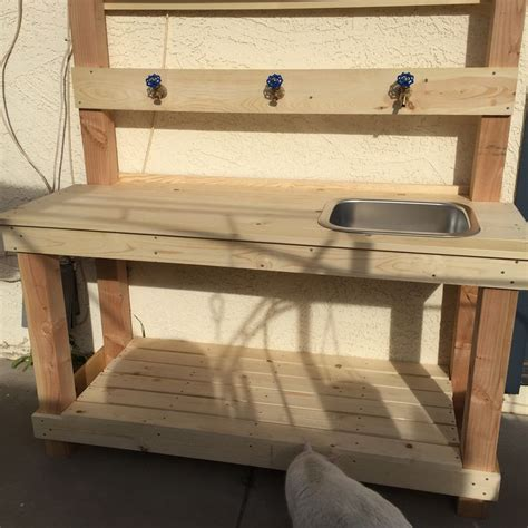 4x4 bench potting bench wash bench made with 1x4 1x6 and 4x4 an