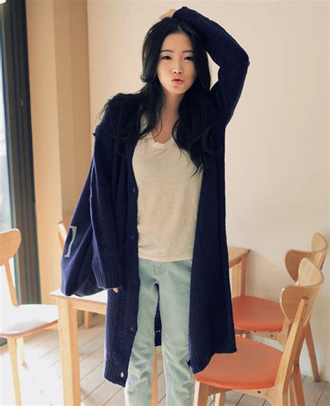 Sweatercwanita Korea Pop Sweater Grey stylenanda damage point cardigan kstylick korean fashion k pop styles