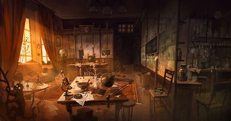 fantasy underground film room study with a laboratory by kinnas on deviantart