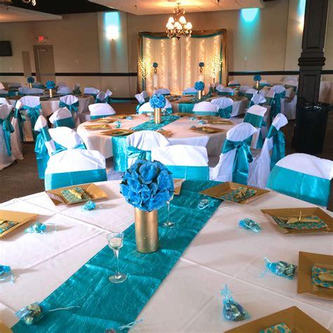 Turquoise Glass Vases Elegantly Expressed Wedding Decor August 2015