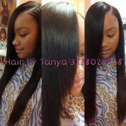 pics of partial side sewing hair weave partial sewed in weave hairstyles pinterest