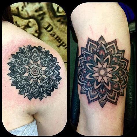 mandala tattoo glasgow kingofbones with some mandala action he is off on