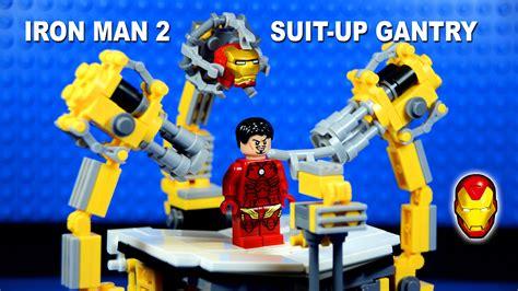 lego iron man suit gantry machine building set