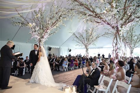 Ceremony Décor Photos   Rustic Elegant Tent Wedding