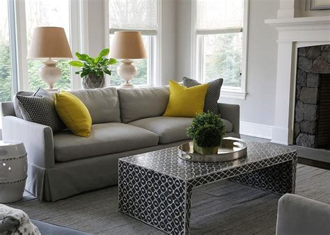 yellow pillows for sofa gray sofa with bright yellow pillows and black waterfall