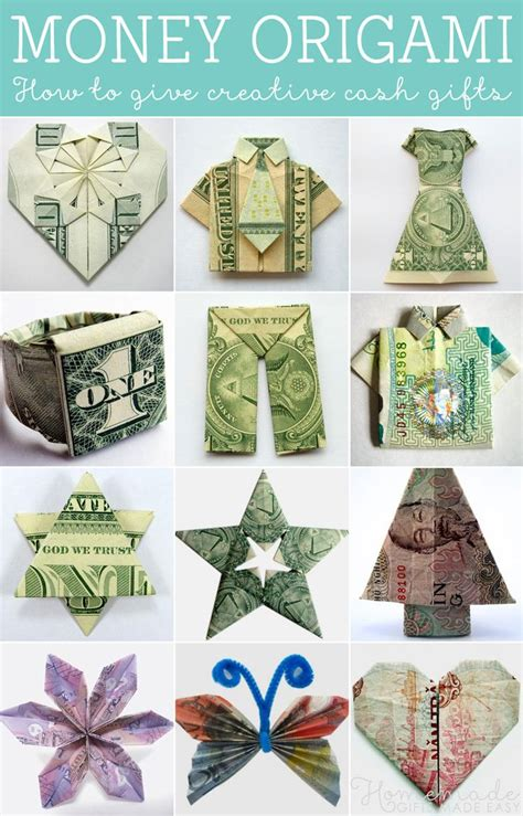 Money Origami Tutorial - money origami tutorials how to give creative gifts