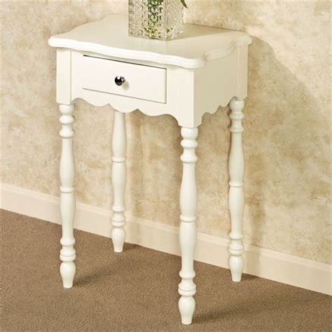 Ivory Accent Table | fiana ivory accent table with drawer