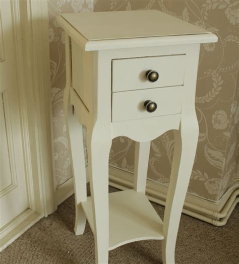 Small Cream 2 Drawer Bedside Table   Melody Maison®