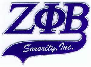 zeta phi beta sorority letter patch