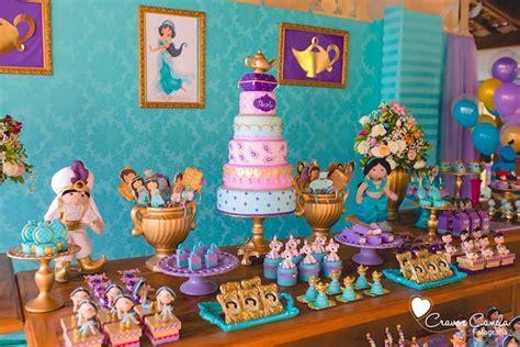 jasmine themed birthday party kara s party ideas colorful princess jasmine birthday