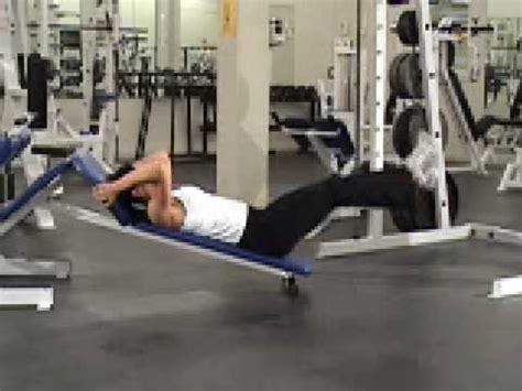 incline bench leg raises incline leg raise youtube