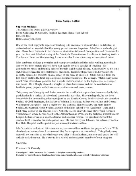 How To Write College Letter Of Recommendation Writing A College Recommendation Letter For A Student