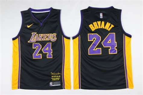 Jersey Authentic Nike Bryant Lakers Black Nba Stitched Jersey Sz nike nba los angeles lakers 24 bryant black purple jersey retired jersey