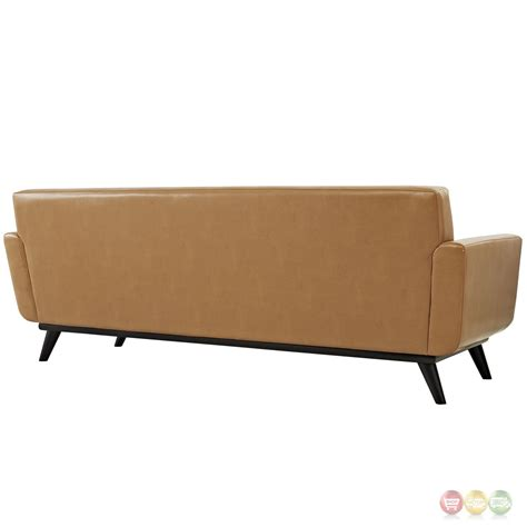 leather sofa tufted engage modern bonded leather sofa with button tufted