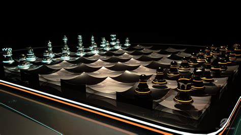 Futuristic Chess Set | futuristic chess set 2 by izaspringintveld on deviantart