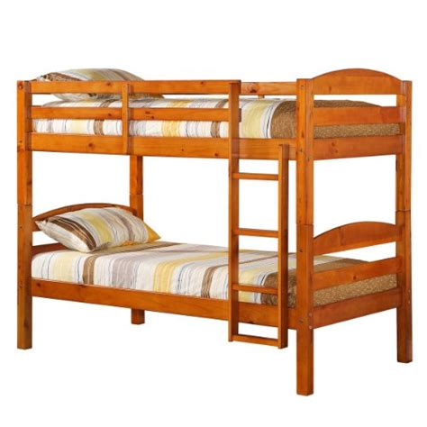 Solid Wood Bunk Bed Convertible Solid Wood Bunk Bed Or 2 Single Beds Honey Fedullys