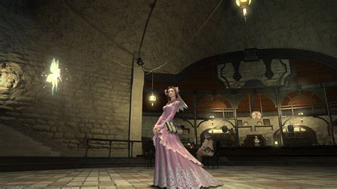 On Jumps Fantasi Pink platinum wedding dress colibri pink ffxiv