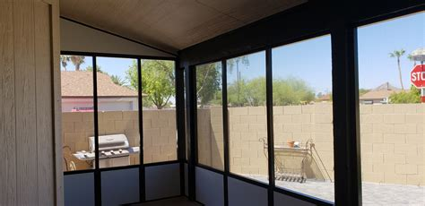 screen room  knee wall arizona enclosures  sunrooms