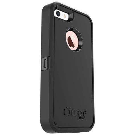 otterbox defender series protective rugged for iphone 5 5s se black ebay