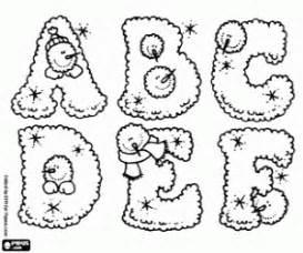 desenhos de alfabeto de inverno para colorir jogos de