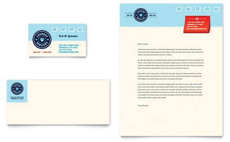 Laundry Services Business Card Letterhead Template Word Publisher Business Card Template Free Publisher