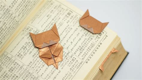 tutorial origami gatto origami neko bookmark jo nakashima youtube