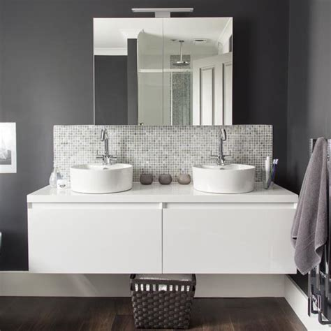 grey bathroom vanity units makeover glamorous grey bathroom ideal home